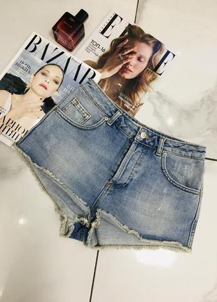 Крутые джинсовые голубые шорты от topshop moto 1+1=3 на всё 🎁