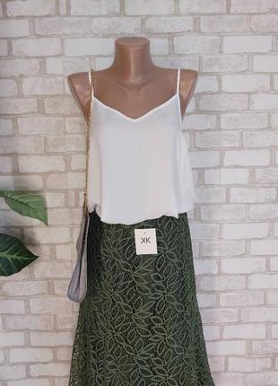 Фирменная primark лёгкая летняя маечка в бельевом стиле в нежном белом, размер л-ка