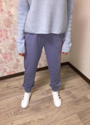 Спортивные штаны, джоггеры женские без флиса с карманами5 фото