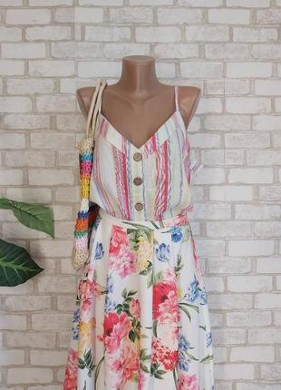 Фирменная primark с биркой маечка/блуза со 100 % хлопка с крупными пуговицами, размер 3хл