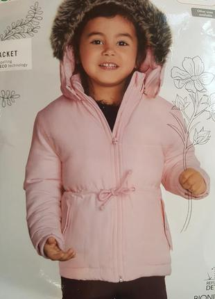 Теплая куртка парка для девочек, lupilu, германия