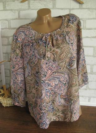 Свободная блуза узор eur 38-40