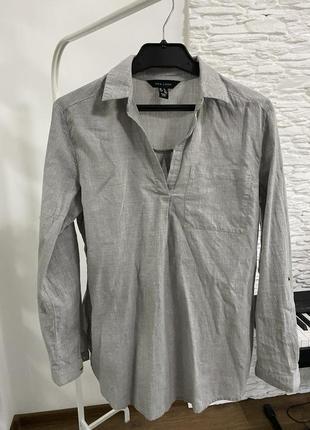 Рубашка серая стиль h&m