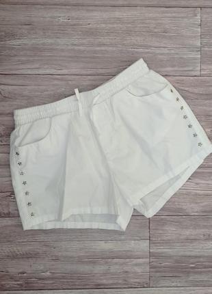 Белые легкие шорты хлопок