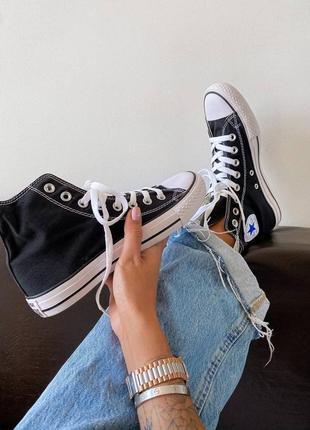 Converse chuk taylor classic black high кеды конверс наложенный платёж купить8 фото
