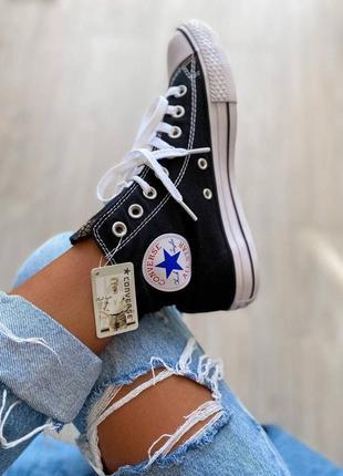 Converse chuk taylor classic black high кеды конверс наложенный платёж купить
