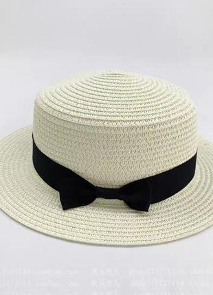 Шляпа канотье шляпа соломенная шляпка канотье