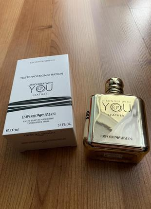 Мужские духи armani emporio stronger with you leather tester 100 ml.