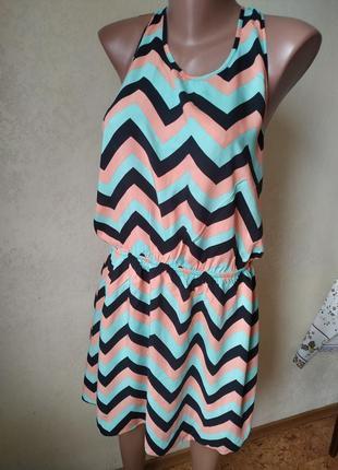 Яркое платье пляжный сарафан