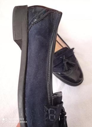 Супер лаковые темно-синие туфли4 фото