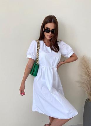Модное летнее однотонное платье в разных расцветках