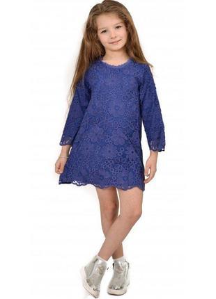 Платье для девочки из кружева