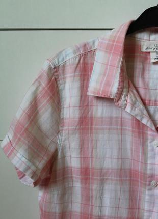 Сорочка в клітинку блуза топ h&m