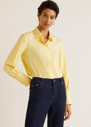 Базова бавовняна сорочка від mango
