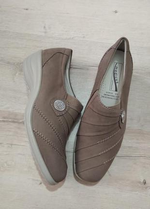 Натур кожа / нубук туфли medicus , р5g , 25см