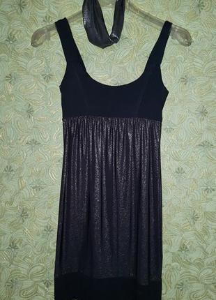 Платье металик- никель 10 р.(44)