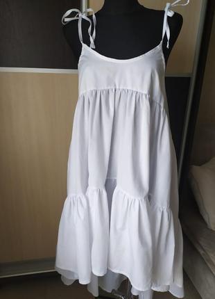 Платье, сарафан с воланами.