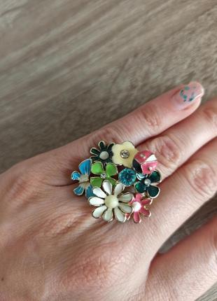 Кольцо цветы