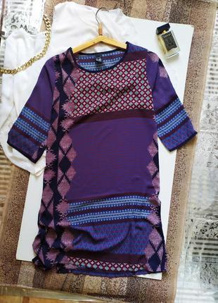 Пляжное платье туника под шелк  / восточное / сарафан / миди / сукня