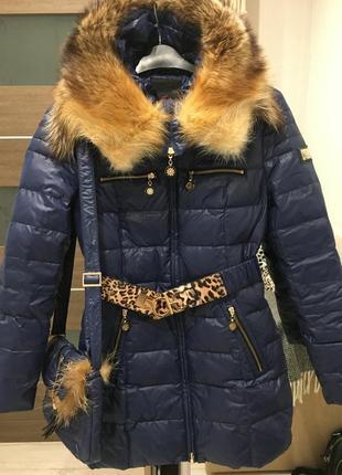 Тёплый зимний пуховик (пух/перо) пальто, куртка