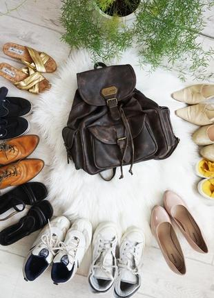 🔥🔥🔥рюкзак кожаный винтажный carlo armano