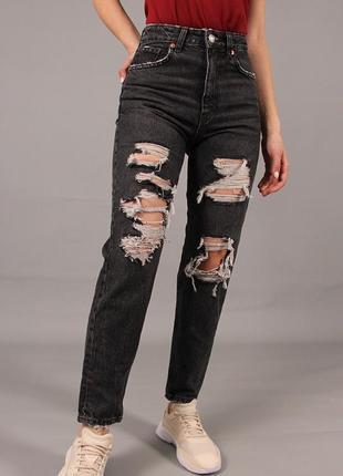 Жіночі джинси-мом zara