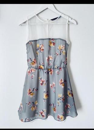 Красивое нежное шифоновое платье в цветочек 💙🌼