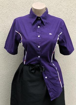 Рубашка-тениска,блуза,люкс бренд,хлопок,италия,burberry