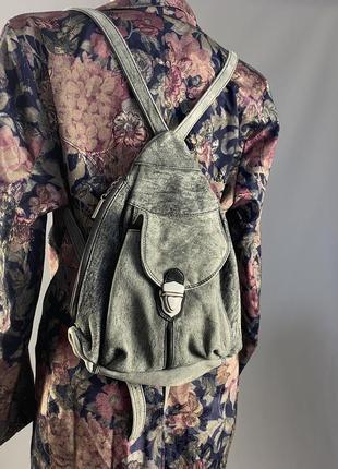 Рюкзак кожаный fancy, винтажный, отл сост