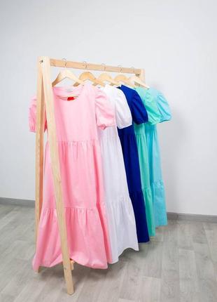 Легкое длинное платье свободного кроя/ летнее свободное платье миди макси
