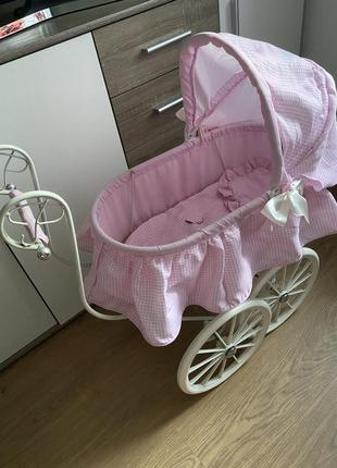 Винтажная колясочка для кукол- нереально красивая для игр и для фото