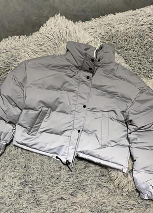 Куртка рефлективная светоотражающая серая оверсайз