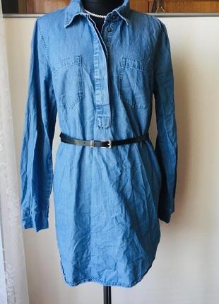 Стильная коттоновая рубашка оригинального фасона
