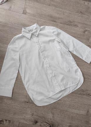 Удлиненная плотная рубашка