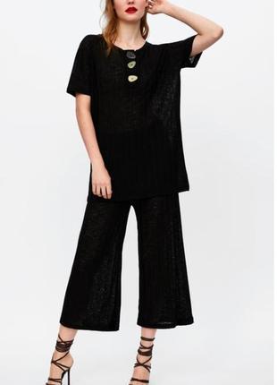 Модные крутые кюлоты zara