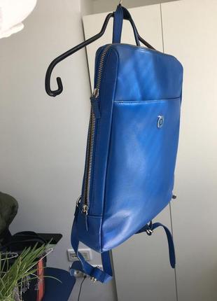 Срочно 🔥 шикарный городской 100% кожаный рюкзак италия / для macbook