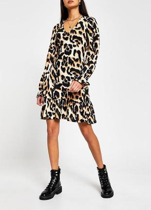 Платье в леопардовый принт river island
