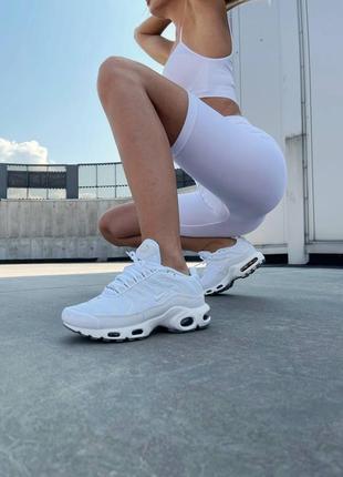 Кросівки air max tn plus white кроссовки