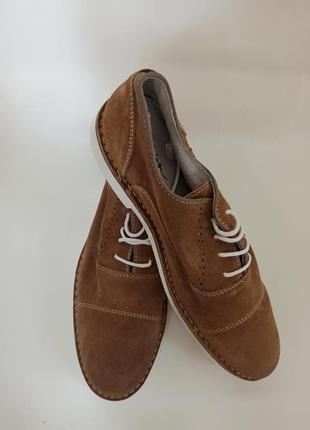 Zign туфли мужские коричневые.бреедовая обувь stock