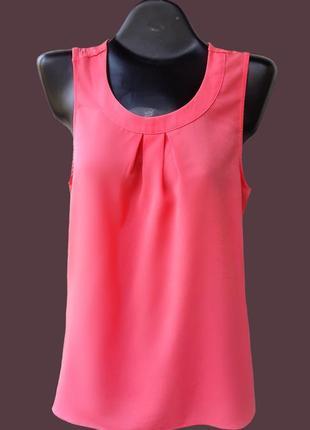 Коралловая блузка без рукавов orsay