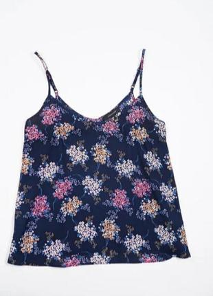 Стильная, красивая майка блуза женская в цветочный принт 10, 36, 38 s, m