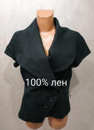463. льняной пиджак promiss,100% лен