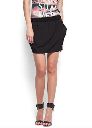 Mango casual трендовая актуальная юбка с лампасами на резинке  1+1=3 на всё 🎁