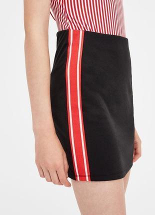 Новая трендовая мини юбка с лампасами pull&bear  1+1=3 на всё 🎁