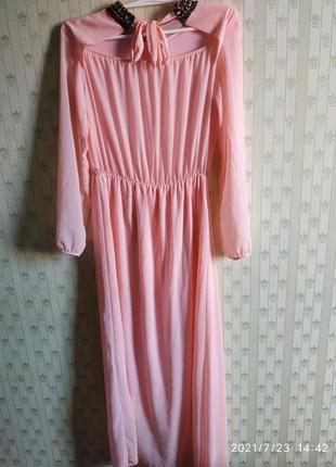 Дизайнерское шикарное платье в пол, размер с/л.