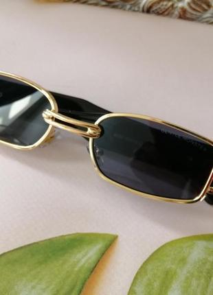 Эксклюзивные брендовые металлические шикарные солнцезащитные женские очки с пирсингом 20215 фото