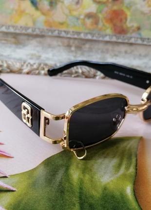 Эксклюзивные брендовые металлические шикарные солнцезащитные женские очки с пирсингом 2021