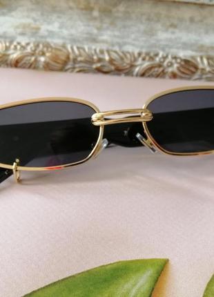 Эксклюзивные брендовые металлические шикарные солнцезащитные женские очки с пирсингом 20213 фото