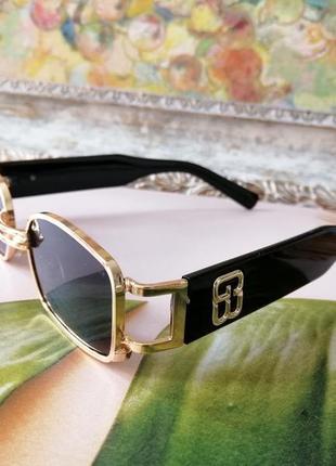 Эксклюзивные брендовые металлические шикарные солнцезащитные женские очки с пирсингом 20212 фото