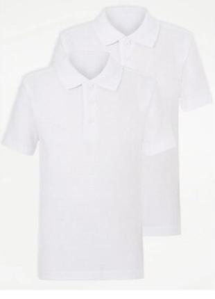 Поло george англия, георг белое с коротким рукавом, футболка от 6 до 16лет и рост(116-176см)